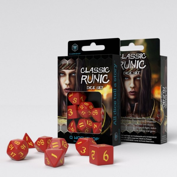 Classic Runic Red/Yellow Dice Set (7)