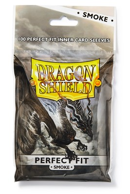 Dragon Shield: Perfect Fit Inner Sleeves - Smoke/Clear(100)