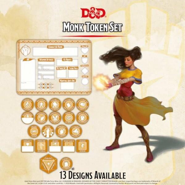 Dungeon & Dragons: Monk Token Set