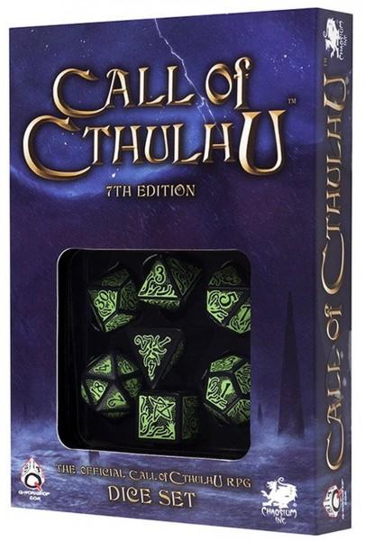 Call of Cthulhu 7th Edition Dice Set Schwarz & Grün