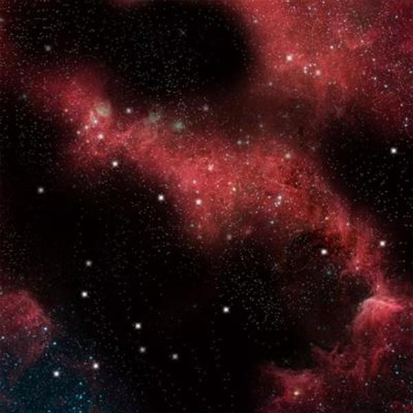 Space Mat: Crimson Gas Cloud (36x36)