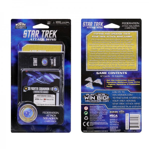 Star Trek: Attack Wing Federation Attack Squadron Card Pack - Wave 4