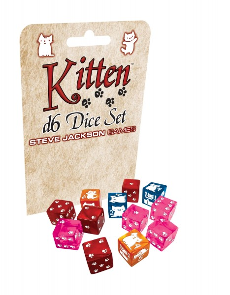 Kitten D6 Dice Set (12)