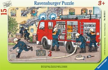 Puzzle: Mein Feuerwehrauto (15 Teile)