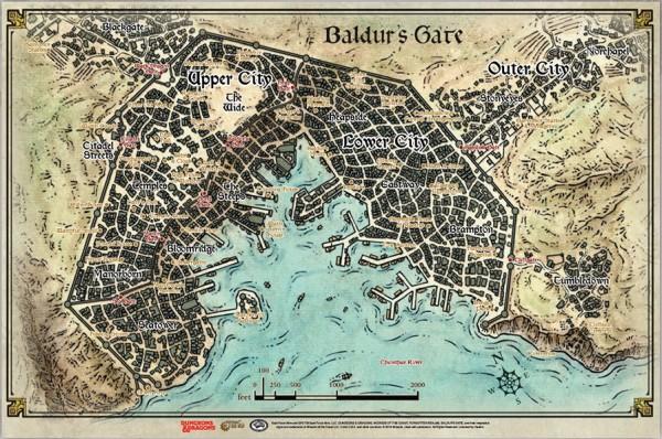 D D Baldur S Gate Map 23 X 17