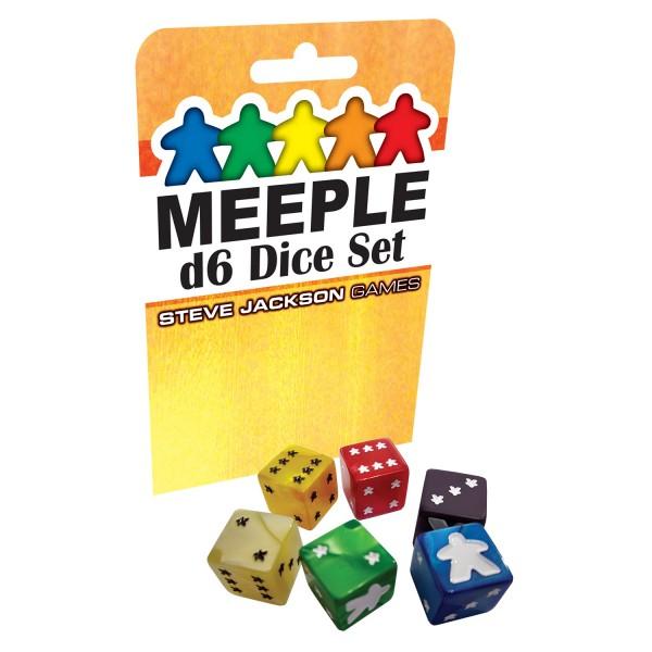 Meeple D6 Dice Set (Yellow)