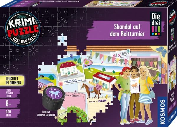 Krimipuzzle: Die drei !!! – Skandal auf dem Reitturnier (200 Teile)