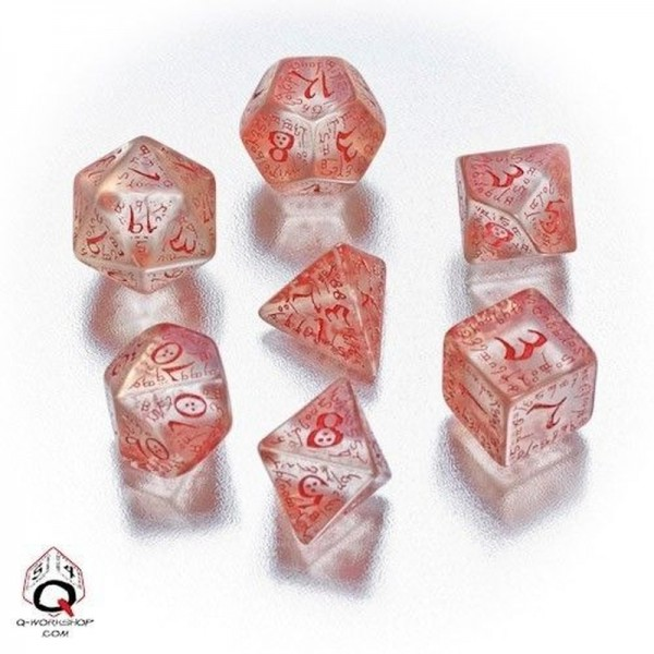 Elvish Dice Transparent/Red (7)