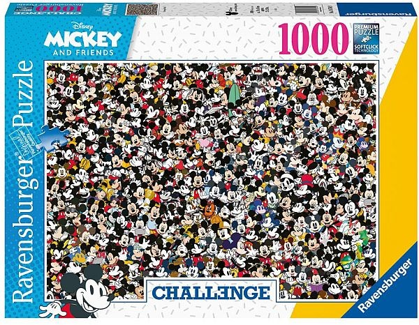 Puzzle: Challenge Mickey (1000 Teile)