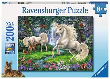 Puzzle: Geheimnisvolle Einhörner (200 Teile)