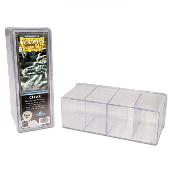 Dragon Shield: Gaming Box 4 Compartments – Clear