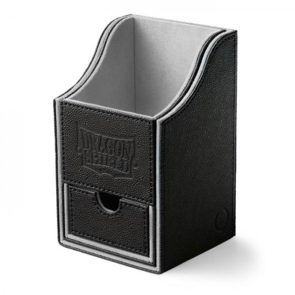 Dragon Shield: Nest Box + Dice Tray - Black/Light Grey