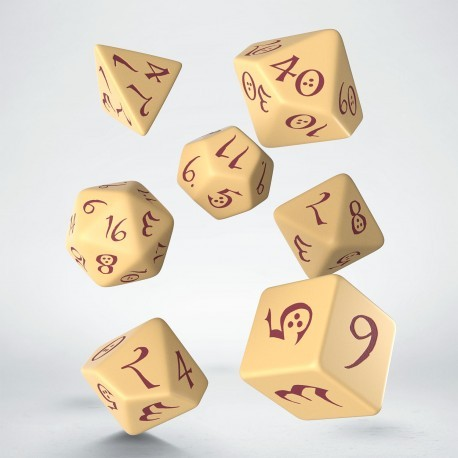 Classic RPG Dice Set Beige/Burgundy (7)