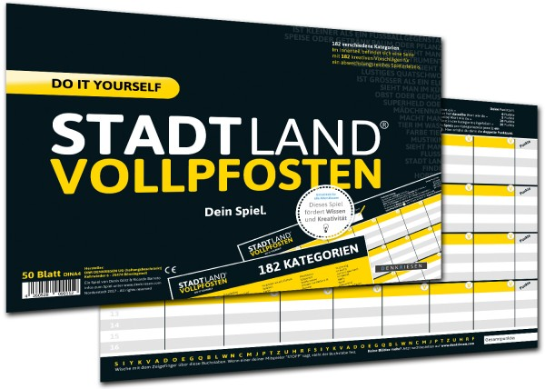 STADT LAND VOLLPFOSTEN – DO IT YOURSELF-EDITION (DinA4-Format)