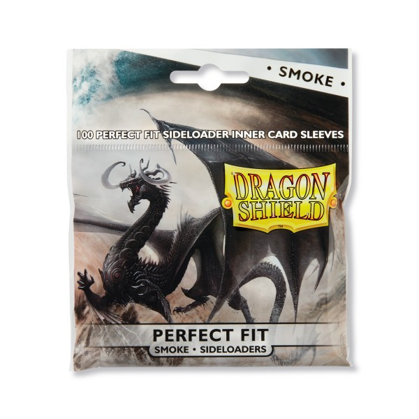 Dragon Shield: Perfect Fit Inner Sleeves - Sideloader – Clear/Smoke(100)