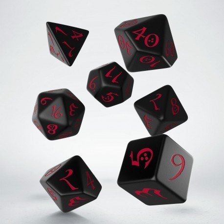 Classic RPG Dice Set Black/Red (7)