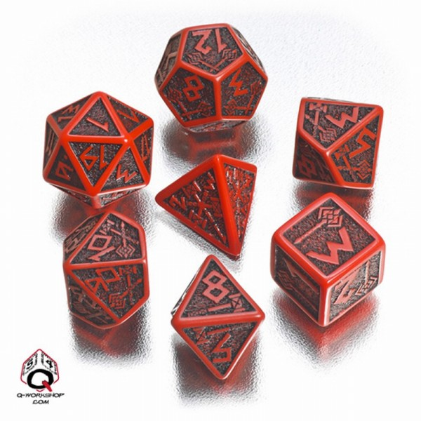 Dwarven Dice Red/Black (7)