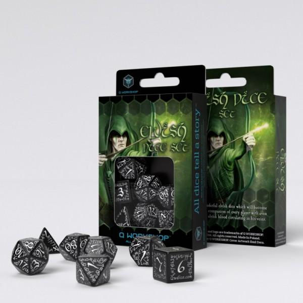 Elvish Dice Black/White (7)