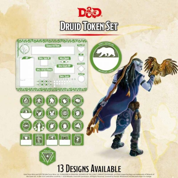 Dungeon & Dragons: Druid Token Set